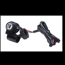 Alimentatore USB con due uscite USB - 5Vdc 2,1A Max. - Ingresso 12-28V - Con cavo d'ingresso per applicazioni motociclistiche_mirante_elettronica_acilia