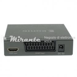 Convertitore SCART HDMI con uscita audio separata_mirante_elettronica_acilia